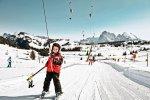 Jazda na nartach w Alpach